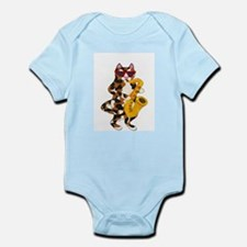 Calico Cat Playing Saxophone Infant Bodysuit