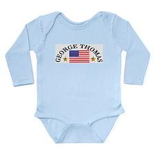 George Thomas, USA Long Sleeve Infant Bodysuit