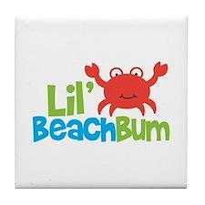 Boy Crab Lil' Beach Bum Tile Coaster