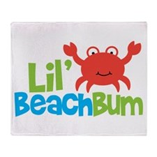 Boy Crab Lil' Beach Bum Throw Blanket