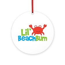 Boy Crab Lil' Beach Bum Ornament (Round)