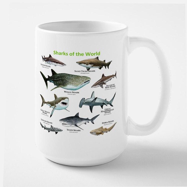 Sharks of the World Large Mug