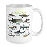 Shark Large Mugs (15 oz)