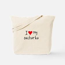 I LOVE MY Ovcharka Tote Bag