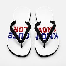 Know Guts Know Glory Flip Flops