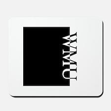 WMU Typography Mousepad
