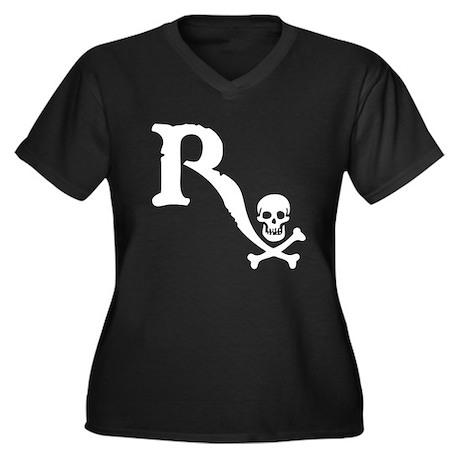 Drugstore Pirate II Women's Plus Size V-Neck Dark
