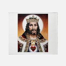 """Christ the King"" Throw Blanket"