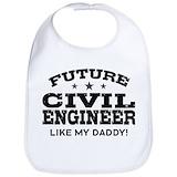 I love civil engineers Cotton Bibs