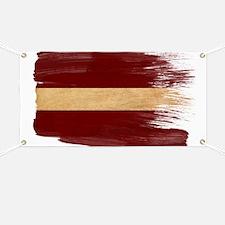 Latvia Flag Banner