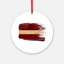 Latvia Flag Ornament (Round)