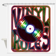 Vinyl Rules Shower Curtain