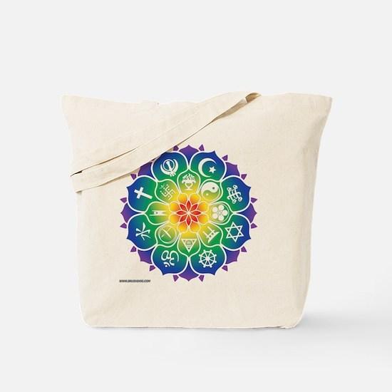 Religions Mandala Tote Bag