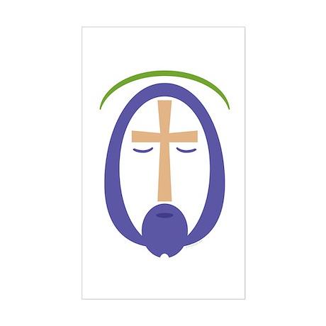Jesus Face: Rectangle Sticker