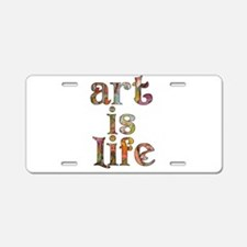 Unique Artwork and artists Aluminum License Plate