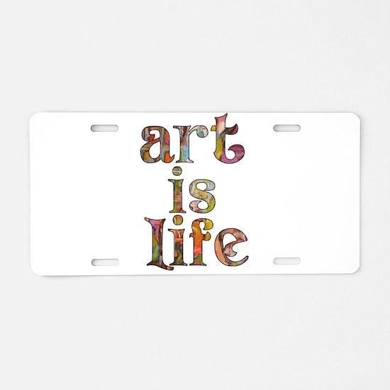 Cute Painting Aluminum License Plate