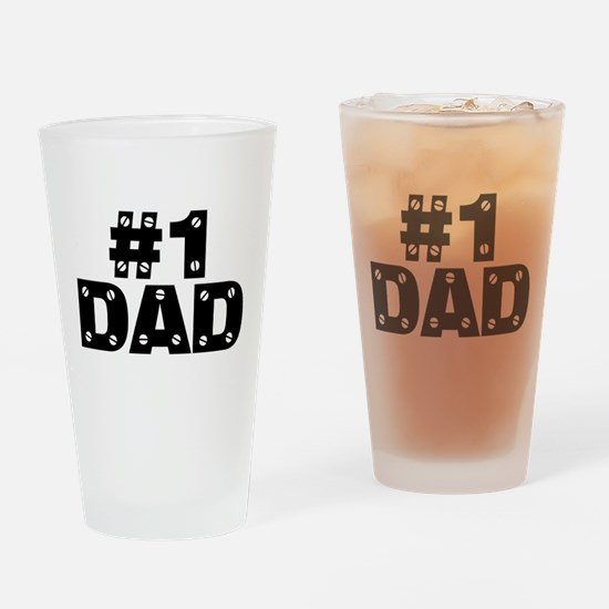 #1 Dad Drinking Glass