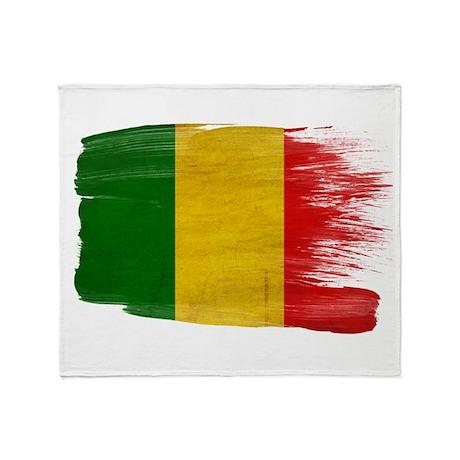 Mali Flag Throw Blanket