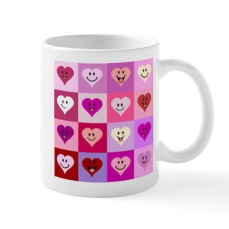 Pink Smiley Hearts Mug