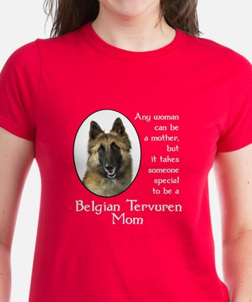 Belgian Tervuren Mom Women's Dark T-Shirt