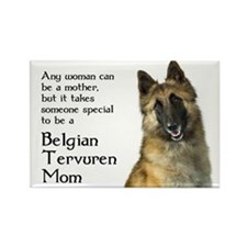Belgian Tervuren Mom Rectangle Magnet