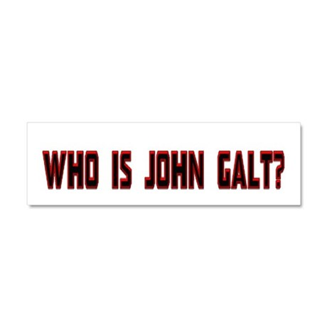 Who is John Galt Car Magnet 10 x 3 by warpedgraphics