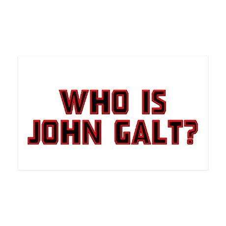 Who is John Galt 38.5 x 24.5 Wall Peel