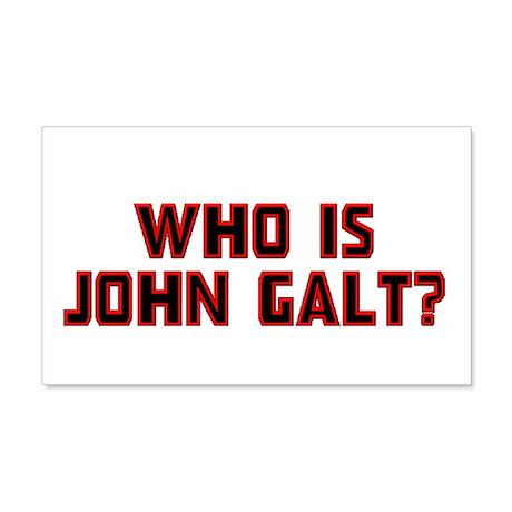 Who is John Galt 22x14 Wall Peel