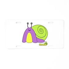 Snaily Pudget Pet Aluminum License Plate