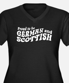 German and Scottish Women's Plus Size V-Neck Dark