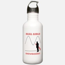 Real Girls Snowboard! Water Bottle