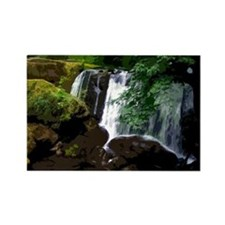 Waterfall and Mossy Rocks Rectangle Magnet