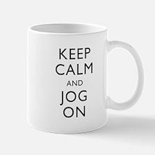 Keep Calm And Jog On Mug