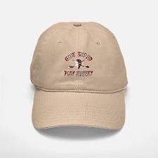 Give Blood Play Hockey Baseball Baseball Cap