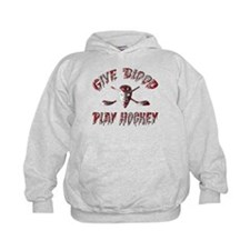 Give Blood Play Hockey Hoodie