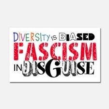 Diversity is wrong Car Magnet 20 x 12