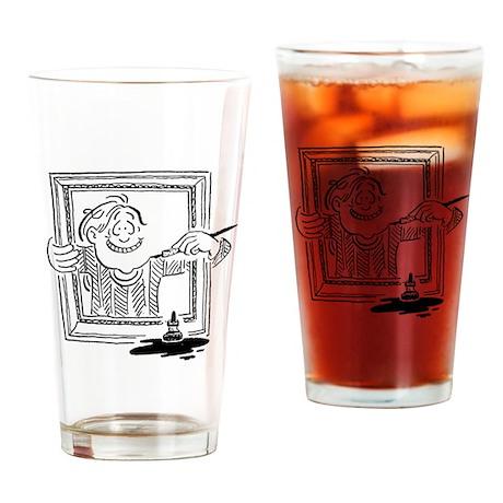 I Draw Who I Am Drinking Glass