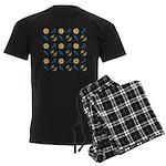 Beach Marine Life Men's Dark Pajamas