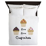 Live Love Cupcakes Queen Duvet