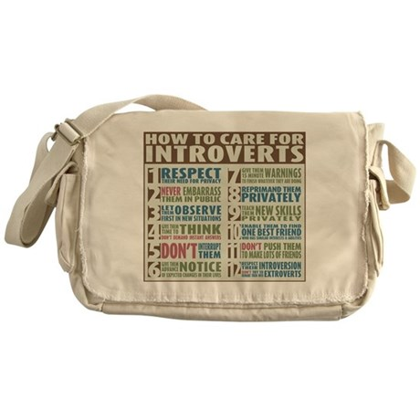 Care for Introverts Messenger Bag
