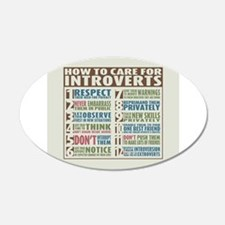 Care for Introverts 22x14 Oval Wall Peel