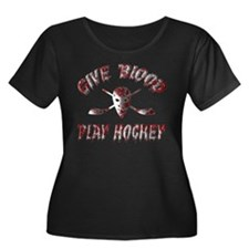 Give Blood Play Hockey T