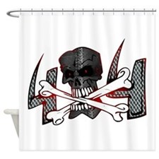 4x4 Evil Skull Shower Curtain