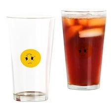 Sad OK Meme Smiley Drinking Glass