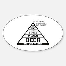 Beer Pyramid Sticker (Oval)