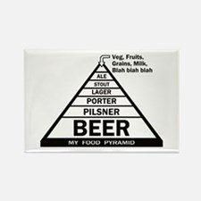 Beer Pyramid Rectangle Magnet (10 pack)