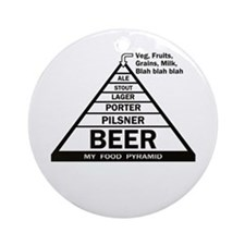 Beer Pyramid Ornament (Round)