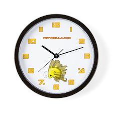 Yellow Fiishii Wall Clock