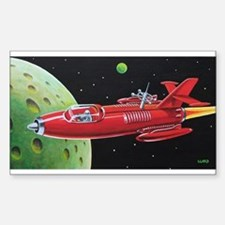 X-30 SPACE ROCKET Sticker (Rectangle)
