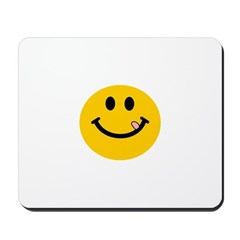 Smiley Sticking out Tongue Mousepad